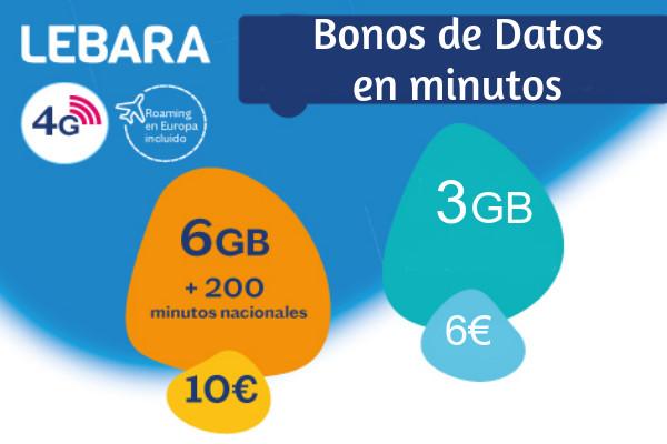 Bonos de datos Lebara