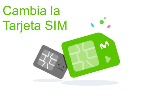 cambia tarjeta SIM