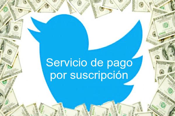 Twitter servicio por suscripción
