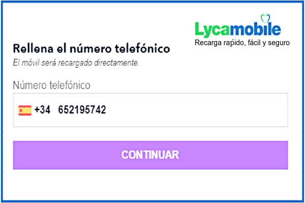 Recarga Lycamobile online