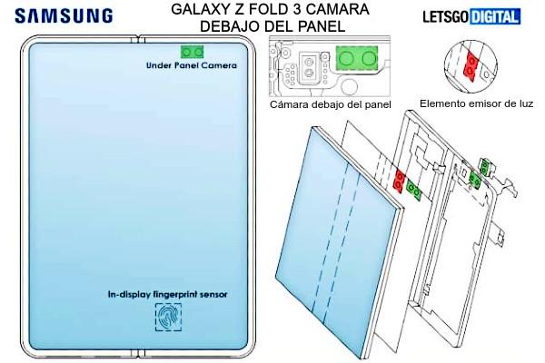 Nuevo móvil plegable de Samsung galaxy z fold 3