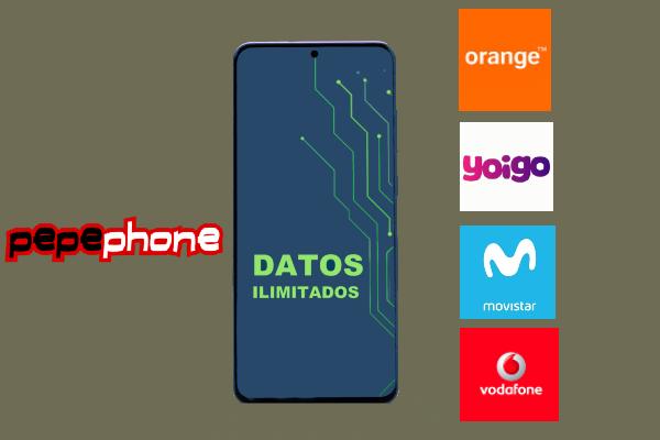Pepephone y competidores datos ilimitados