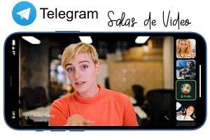 Salas de video en Telegram