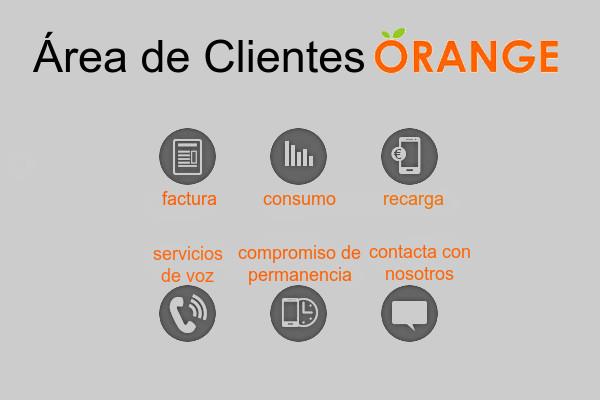 servicios de área de clientes orange
