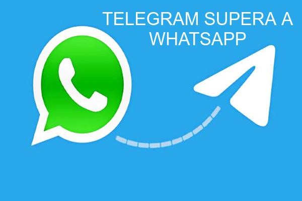 Telegram supera a WhatsApp